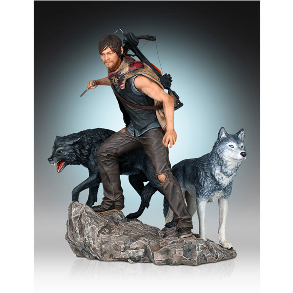 Walking Dead Daryl and the Wolves Statue