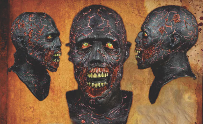 Walking Dead Charred Walker Latex Halloween Mask