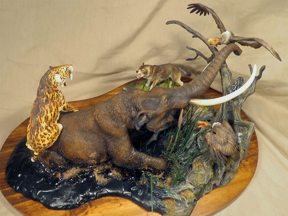 La Brea Tar Pit Diorama Prehistoric Mammal Model Kit by Paleocraft