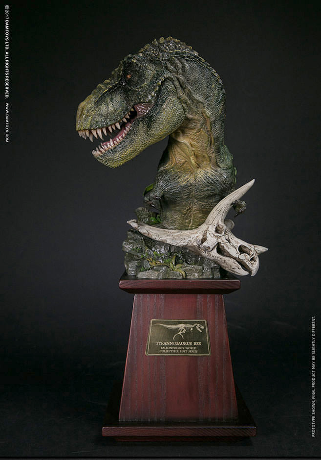 T-Rex Green Museum Collection Series Bust