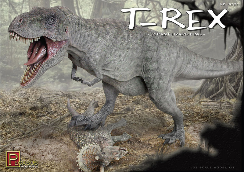 T-Rex Dinosaur 1/32 Scale Vinyl Model Kit Pegasus