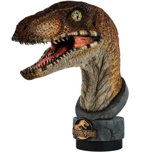 Jurassic Park Velociraptor 1/1 Scale Life Size Bust