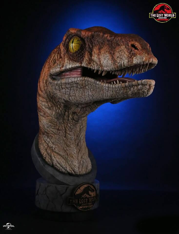 Jurassic Park Lost World Life Size Raptor Bust