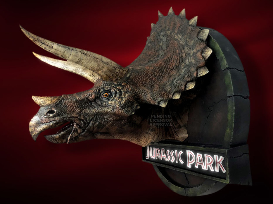 Jurassic Park 1/5 Scale Triceratops Bust Display