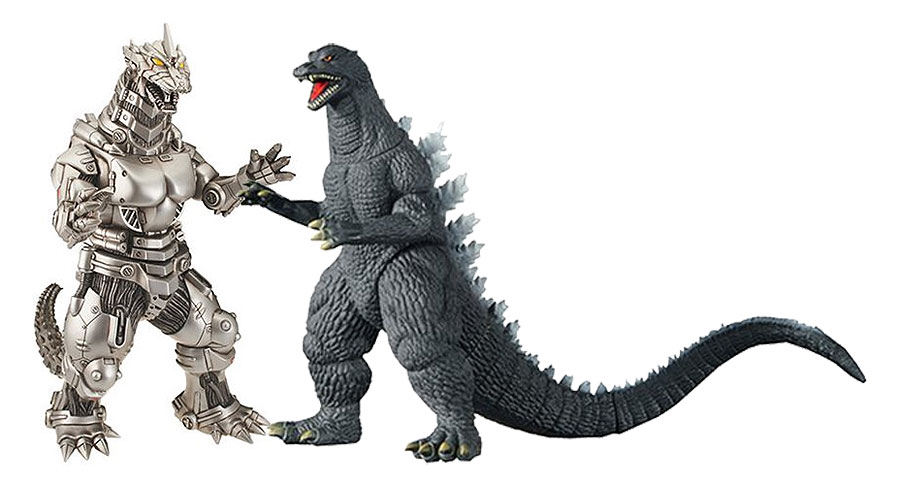 "Godzilla 2004 Final Wars Godzilla and Mecha 12"" Figure 2-Pack"
