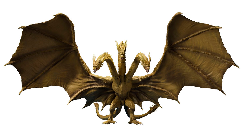 Godzilla 2019 King Of The Monsters King Ghidorah SH MonsterArts Figure by Bandai Japan