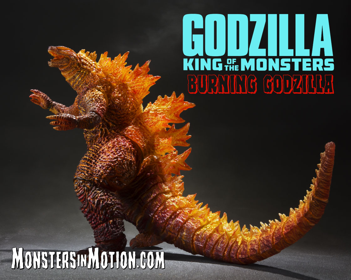 Godzilla 2019 King of the Monsters Burning Godzilla S.H. MonsterArts Vinyl Figure
