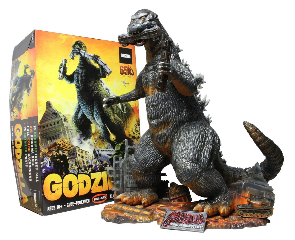 "Godzilla 1954 1/144 Scale 16"" Tall Model Kit by Polar Lights"