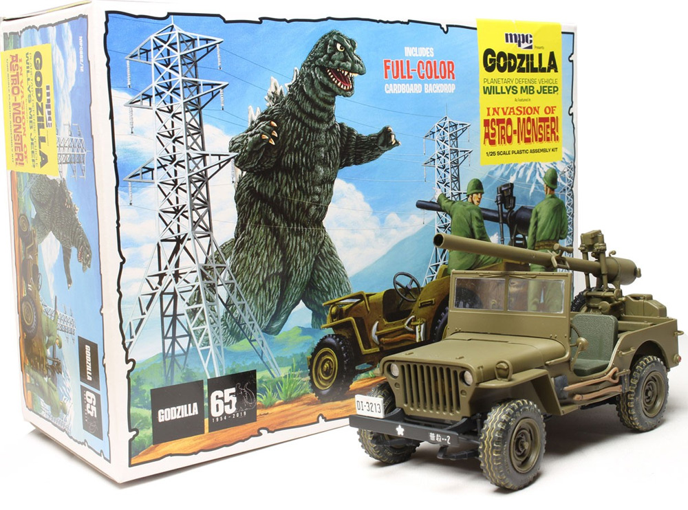 Godzilla Army Jeep 1/25 Scale Model Kit