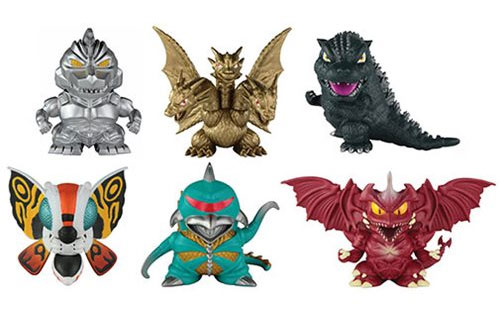 Godzilla Super-Deformed Chibi Figure Diorama 6-Pack