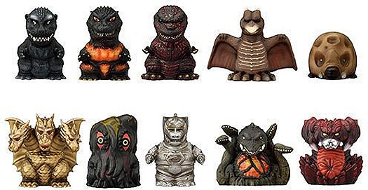 Godzilla Soft Vinyl Puppet Mascot 10 Figure Collection