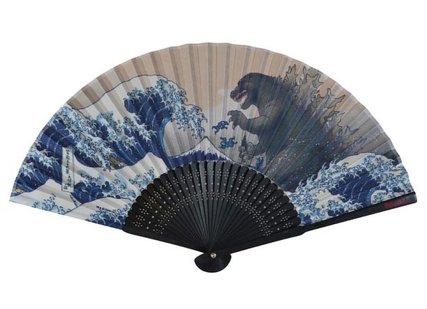 Godzilla Folding Fan 36 Views of Mount Fuji & Giant Monster