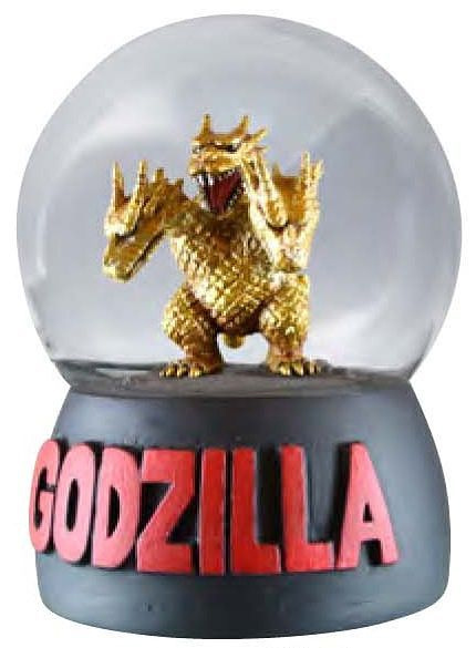 Godzilla Snow Globe Dome King Ghidorah Edition