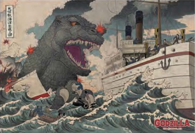 Godzilla Jigsaw Puzzle Giant Monster That Came From The Sea 300PCS