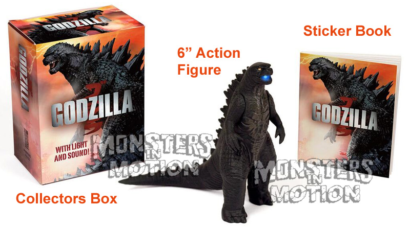 Godzilla 2014 Lights and Sounds Action Figure & Sticker Book Kit