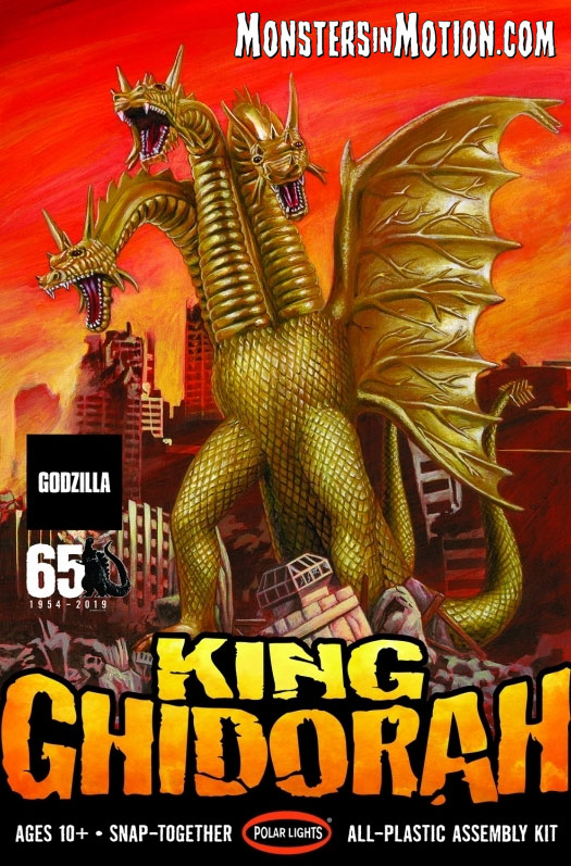 Godzilla King Ghidorah 1/350 Scale Aurora Model Kit Re-Issue by Polar Lights