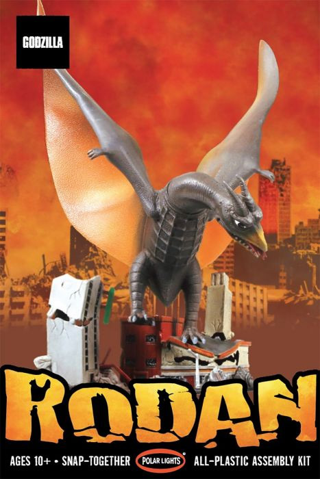 Godzilla Rodan 1/800 Scale Aurora Re-Issue Model Kit by Polar Lights
