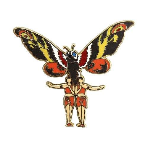 Mothra and the Twins Enamel Pin