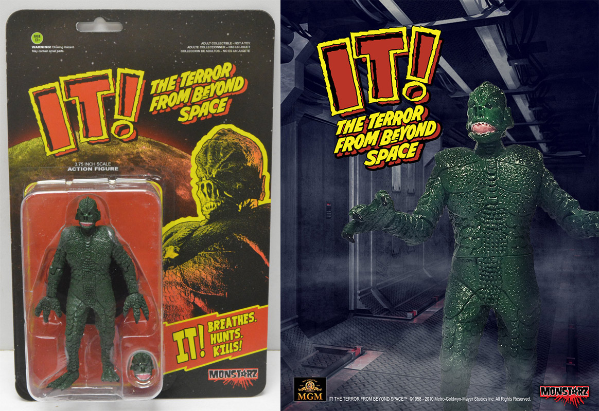 "IT! The Terror From Beyond Space Alien Green 3.75"" Scale Retro Action Figure by Monstarz"