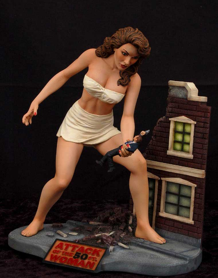 Attack of the 50 Foot Woman Model Kit #2 Building Diorama Version