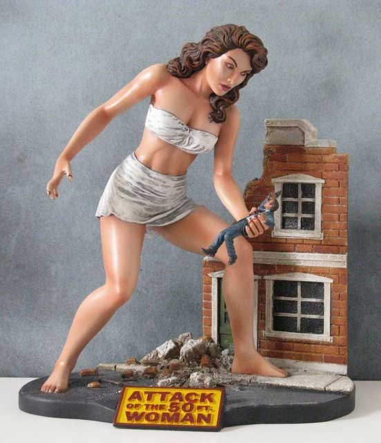 Image result for 50 foot woman diorama