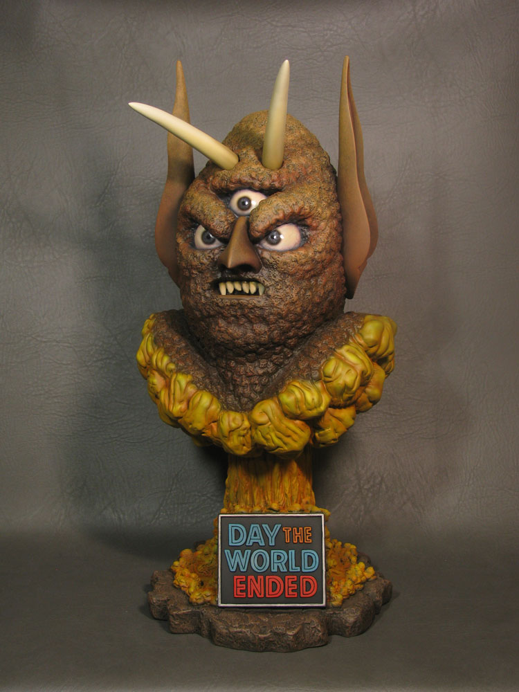 Day The World Ended Three Eyed Mutant 18 inch 1/2 Scale Bust Painted Display