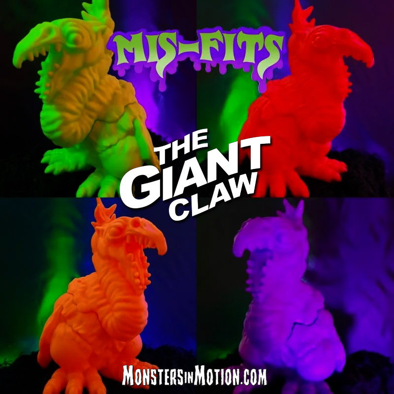 "Giant Claw 1957 Mis-Fits 4"" Vinyl Figure by Hop Toys"