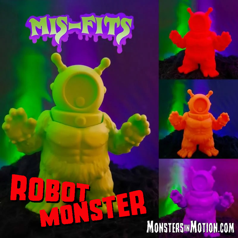 "Robot Monster 1953 Mis-Fits 4"" Vinyl Figure by Hop Toys"