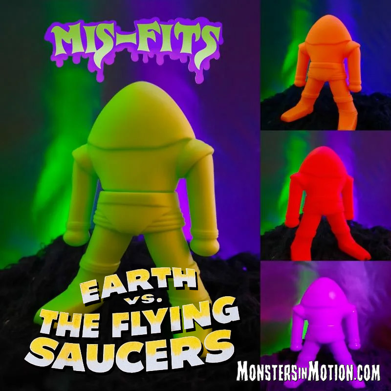 "Earth Vs. The Flying Saucers Mis-Fits 4"" Vinyl Figure by Hop Toys"