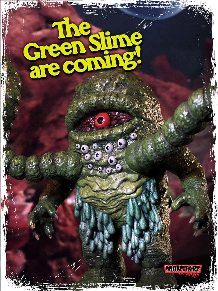 Green Slime Boxed Retro Action Figure
