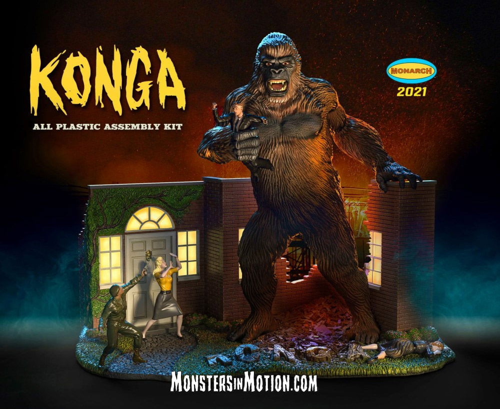 Konga 1961 Giant Gorilla Ape Plastic Model Kit by Monarch