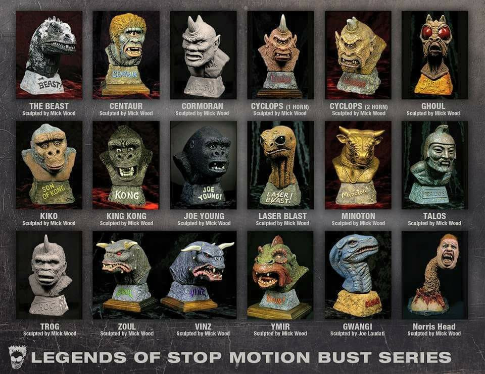 Cyclops Double Horn Legends of Stop Motion Bust Model Kit by Mick Wood