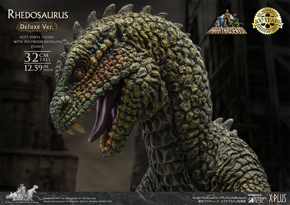 Beast from 20,000 Fathoms Rhedosaurus Deluxe Color Version Statue by Star Ace Ray Harryhausen 100th