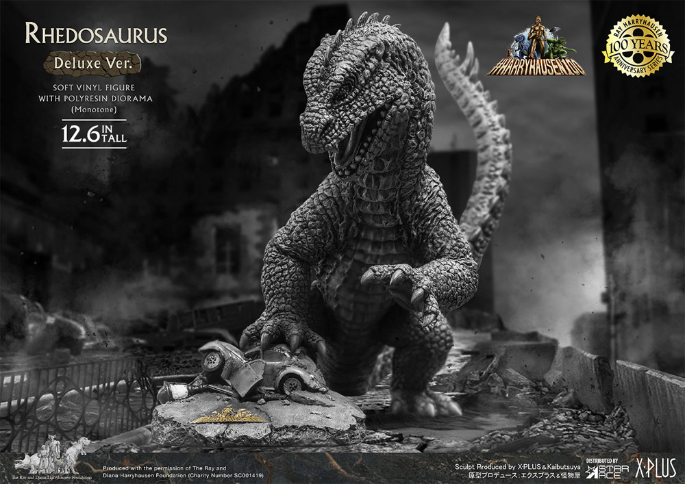 Beast from 20,000 Fathoms Rhedosaurus Deluxe Monochrome Version Statue by Star Ace Ray Harryhausen 100th