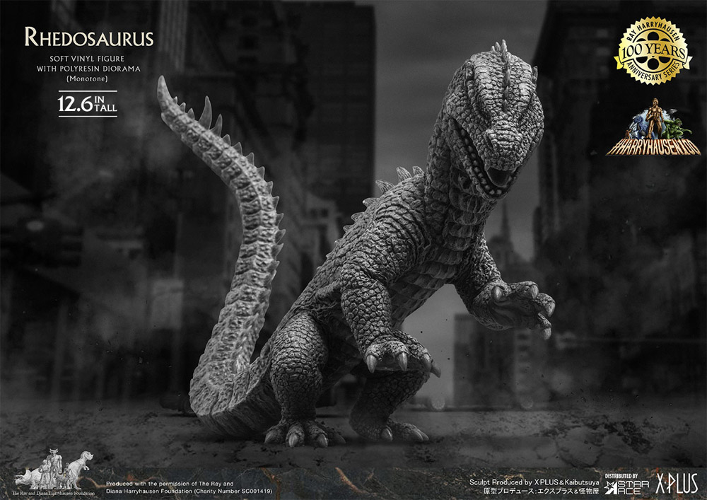 Beast from 20,000 Fathoms Rhedosaurus Normal Monochrome Version Statue by Star Ace Ray Harryhausen 100th