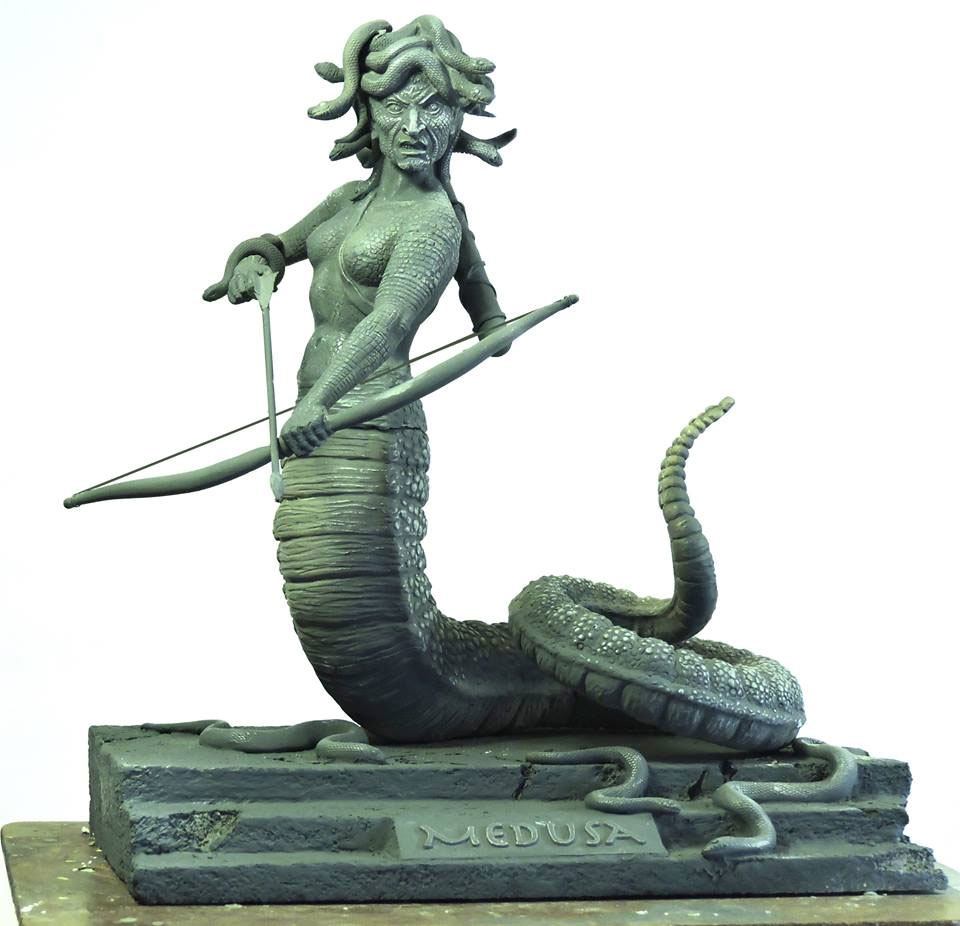 Medusa Resin Model Kit by Joe Laudati