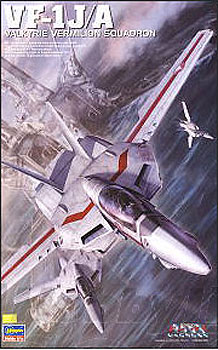 Macross Robotech VF-1J/A Valkyrie Vermilion Squadron 1/48 Model Kit by Hasegawa