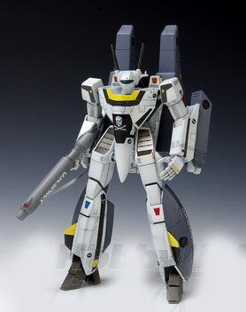 Macross Robotech Snap-Fit VF-1S Super Valkyrie Battroid Roy Focker 1/100 Model Kit by Wave