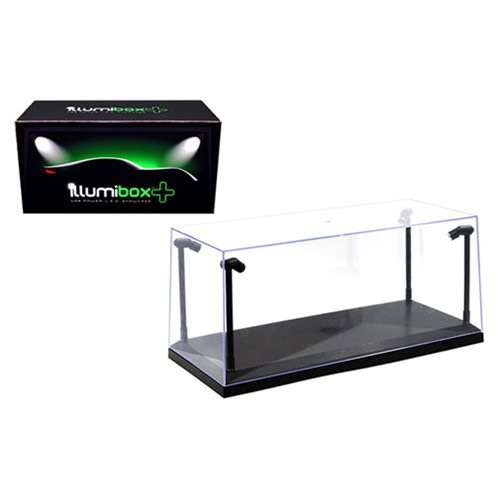 IllumiBox Plus 14-Inch L.E.D. Light Crystal Clear Black Showcase