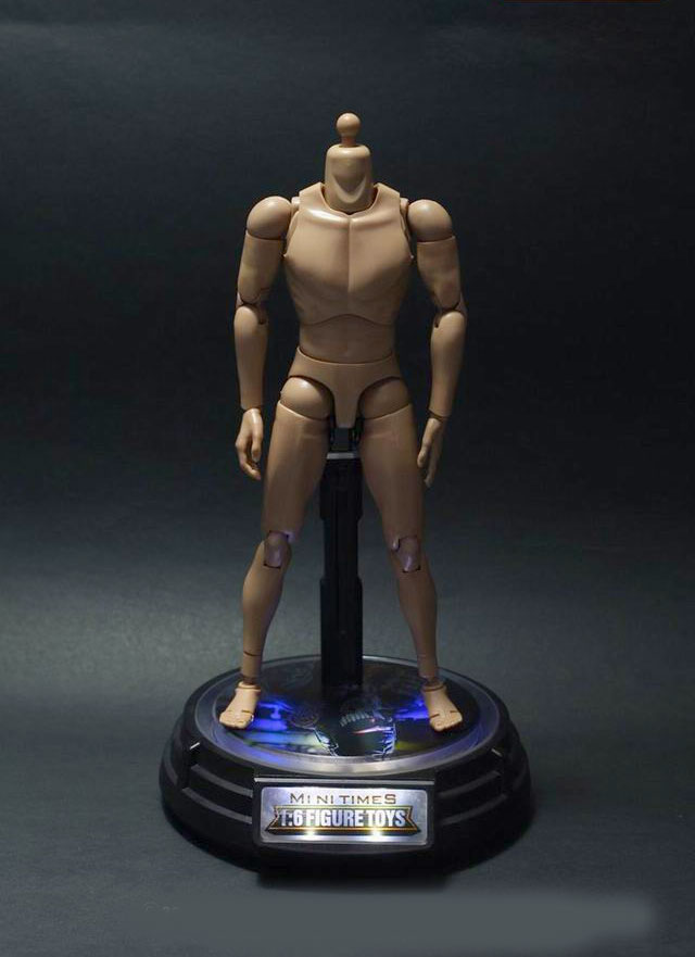 1/6 Scale Action Figure Power Illuminated Turntable Stand