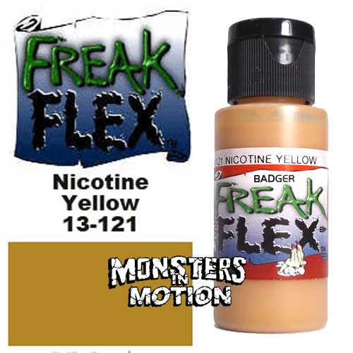 Freak Flex Nicotine Yellow Paint 1 Ounce Flip Top Bottle