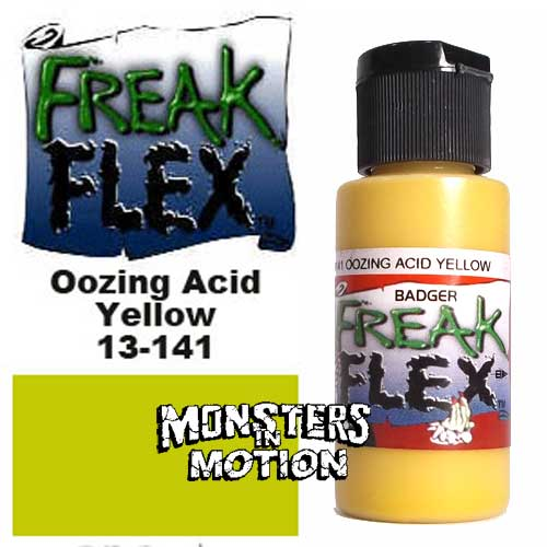Freak Flex Oozing Acid Yellow Paint 1 Ounce Flip Top Bottle