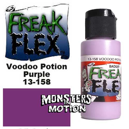 Freak Flex Voodoo Potion Purple Paint 1 Ounce Flip Top Bottle