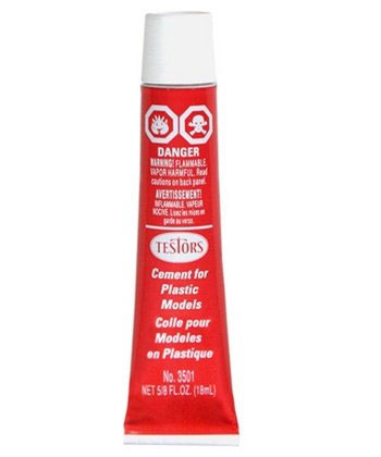 Testors Plastic Cement Glue 5/8 Fl. Oz. Tube