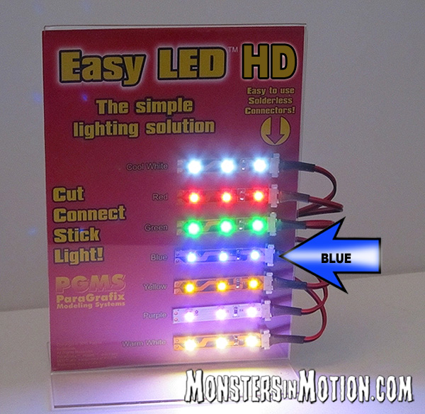 Easy LED HD Lights 12 Inches (30cm) 36 Lights in BLUE