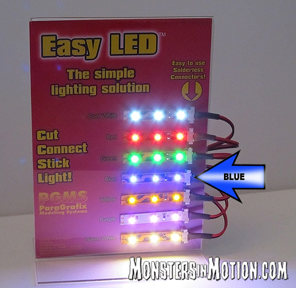 Easy LED Lights 12 Inches (30cm) 18 Lights in BLUE