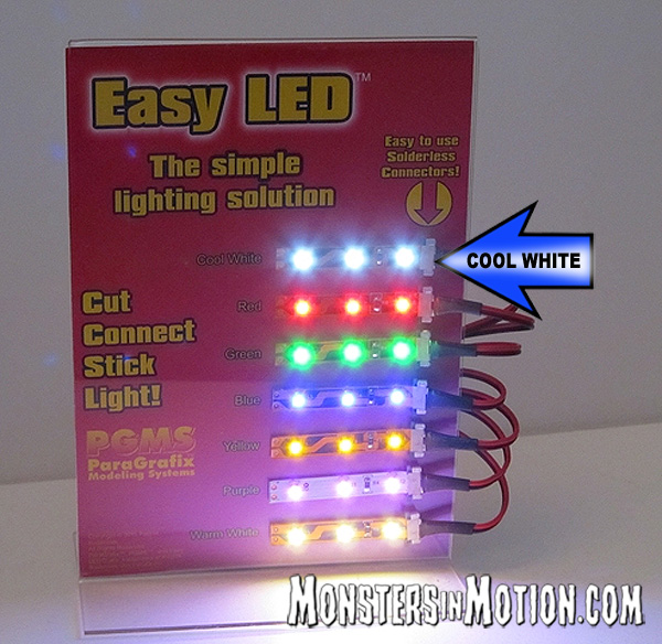 Easy LED Lights 12 Inches (30cm) 18 Lights in COOL WHITE