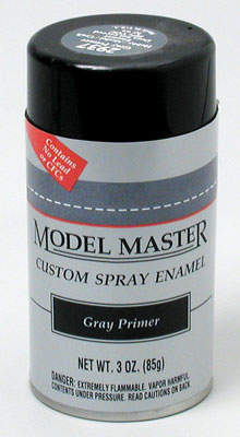 Testors Model Master Grey Primer Enamel 3oz. Spray Paint