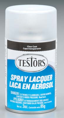 Testors Dullcoat Clear Flat Lacquer Overcoat 3oz. Spray Paint