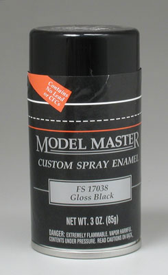 Testors Model Master Gloss Black Enamel 3oz Spray Paint